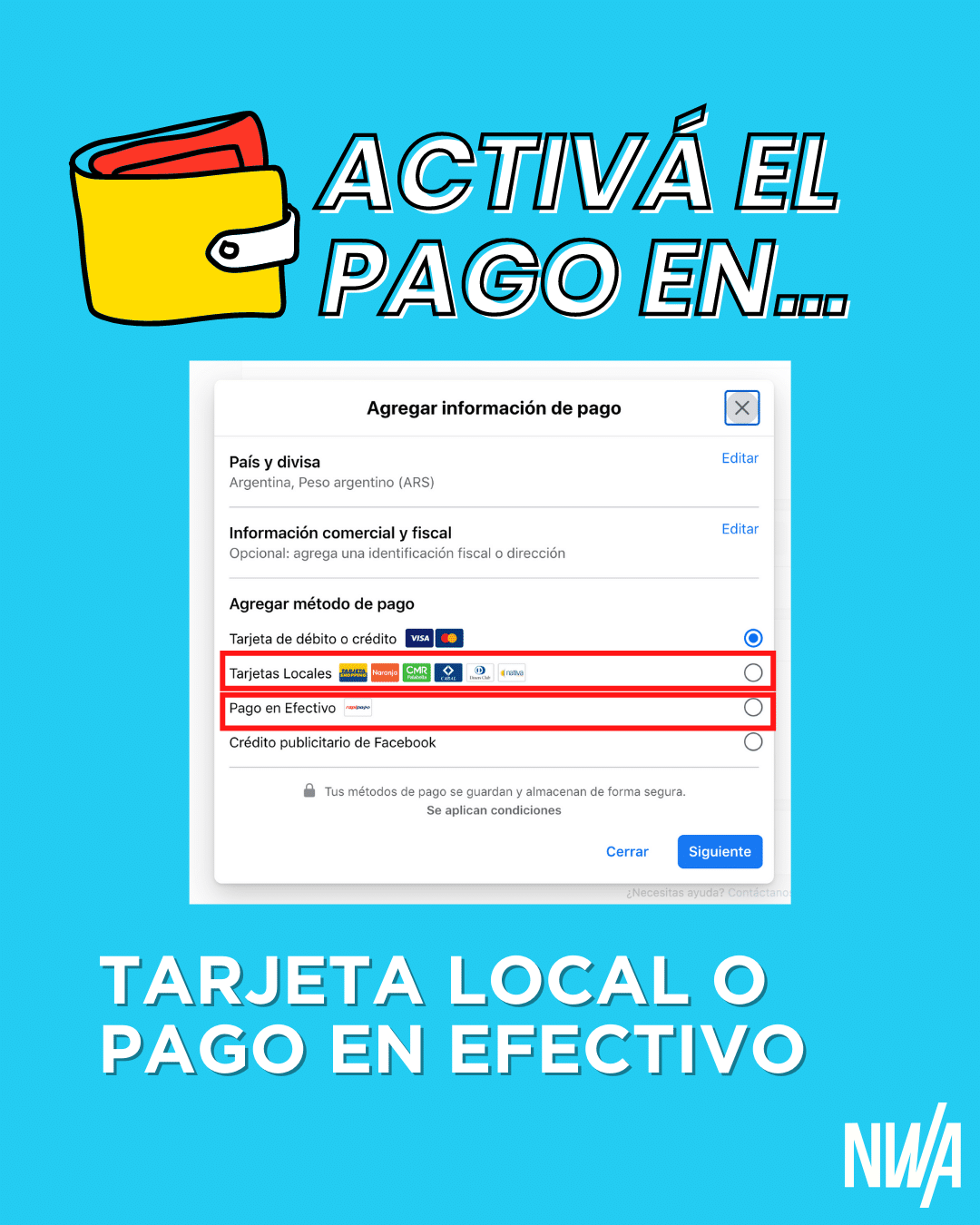 recargo 35 publicidad digital facebook instagram moneda local